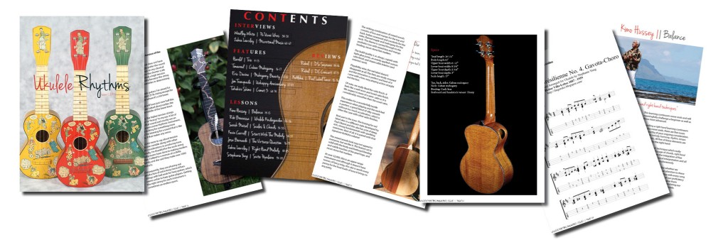 Ukulele Rhythms Magazine Issue 1 Promo Board plain